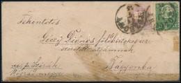 1875 Réznyomat 3kr és Színesszámú 2kr Ritka Vegyes Bérmentesítés Levélen 'POZSONY' - Bágyonka (Nógrád Megye) (200.000) - Stamps
