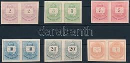 (*) 1874 Színes Számú Krajcáros + Hírlapbélyeg, Fogazatlan Próbanyomatok Kartonpapíron, 6 Klf érték Párokban, Rendkívül  - Stamps
