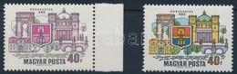 ** 1969 Dunakanyar 40f ívszéli, Látványos Tévnyomat: Hiányzó Kék és Sárga Színnyomatok. A Szakirodalomban és A Bélyegker - Stamps