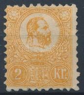 * 1871 Kőnyomat 2kr Narancssárga, Eredeti, De Részleges Gumival, Szép állapotban (110.000) - Stamps