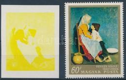 (*) 1967 Festmények III. 60f  Vágott Bélyeg Magenta, Ciánkék, Fekete és Arany Színnyomat Nélkül. A Szakirodalomban Ismer - Stamps