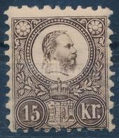 * 1871 Réznyomat 15kr Javított Gumival (*200.000) - Stamps