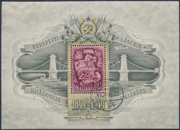 O 1949 Lánchíd III. Blokk Elsőnapi Bélyegzéssel ,,GÖDÖLLŐ' - Unclassified