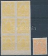 ** 1913 Sárga! Hírlapbélyeg ívszéli Hatostömb - Stamps