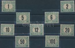 * 1903 Zöldportó Teljes Sor Szép állapotban, R! - Stamps