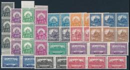 ** 1926 Pengő-fillér (I.) Komplett A Sor 3-as Csíkokban (75.000) (ráncok / Creases) - Stamps