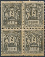 ** 1873 Távirda 2Ft Négyestömb (72.000) (patina) - Stamps