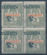 ** * Temesvár I. 1919 Sürgős 3/2 Fordított Négyestömb Bodor Vizsgálójellel (60.000) - Stamps