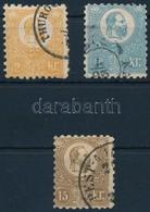 O 1871 Kőnyomat 2kr, 10kr és 15kr - Stamps