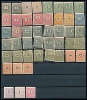 ** * 1898-1899 43 Db Nagyobb Részben Postatiszta és III. Vízjelű Bélyeg Hozzá 3 Db 1889-es Kiadás / 43 Pcs Mostly Mint N - Stamps