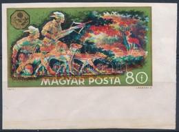 (*) 1971 Vadászati Világkiállítás 80f Vágott Fázisnyomat, A Sárga, A Zöld és A Piros Színek Eltolódásával, A Fekete Szín - Unclassified