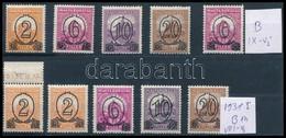 ** 1931 Kisegítő (I.) A és B Sor + IX. Vízjel B (51.590) - Stamps