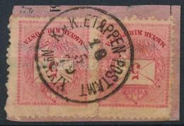 Bosznia Előfutár 1879 2 X 5kr Kivágáson ,,Ku.k. ETAPPEN-POSTAMT  No. XXIX' - Stamps