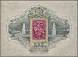 * 1949 Lánchíd III. Blokk álló Vízjellel (** 104.000) - Stamps