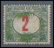 * Szeged 1919 Portó 2f Próbanyomat Zöld Felülnyomattal Több Garancia Bélyegzéssel (40.000) RR! - Stamps