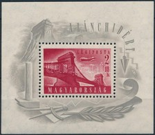 ** 1948 Lánchíd I. Blokk Vízjel Nélkül (45.000) (pici Gumihiány / Gum Disturbance) - Stamps