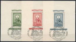 O 1951 80 éves A Magyar Bélyeg Blokk Sor Korabeli Alkalmi Bélyegzéssel (1951 Okt. 14.) (42.000+) - Stamps