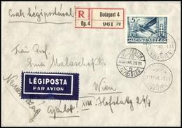 1936 Repülő 5P Ajánlott Légi Levélen, Ritka! - Stamps
