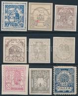 (*) 1900 Korona-fillér Bélyegtervek 9 Különféle Nyomata. Rendkívül Ritka!! - Stamps