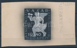 1940 Konecsni György Dekoratív Vásár Bélyegterve - Unclassified