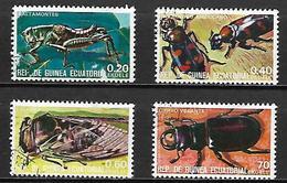 GUINEE  EQUATORIALE      -     Insectes   /  LOT   -       Oblitérés  . - Guinée Equatoriale