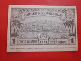 Le Paraguay 50 Ans De San Bernardino  1931 - Paraguay