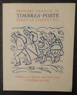 Luxemburg 1945   Herdenkingsblad  'Des Evacues Luxembourgeois'  Zie Foto's     Genummerd    Zie Foto's - Commemoration Cards