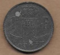 1 Franc Zinc 1947 FL   RARE - 02. 1 Franc