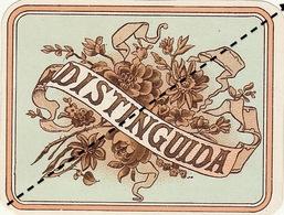 Fin 1800 étiquette Boite à Cigare DISTINGUIDA - Etiquettes
