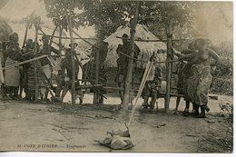 370. CPA CÔTE-D'IVOIRE. TISSERANDS 1912 - Côte-d'Ivoire