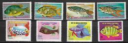 GUINEE  EQUATORIALE      -   POISSONS  Exotiques  /  Aquariophilie    -       Oblitérés  . - Guinée Equatoriale