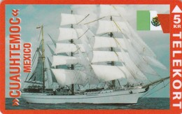 Denmark, P 101, Cuauhtemoc, Mexico, Sailingship, Mint, Only 850 Issued, 2 Scans. - Denmark