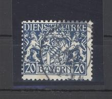 Bayern Dienst Mi.Nr. 28w, 20 Pfg. Freimarke Gestempelt, Geprüft BPP (25274) - Bayern
