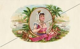 1893-1894 Grande étiquette Boite à Cigare Havane LORIENA - Etichette