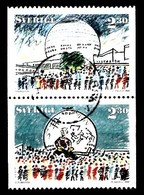 Suède 1989 Mi.Nr.: 1804-1807 Haustiere1530+1531 Sport   Oblitérés / Used / Gestempeld - Sweden