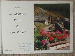Petit Calendrier Poche 1988 Lavigne PTT Facteur  La Poste Paysage Fleurs - Calendriers
