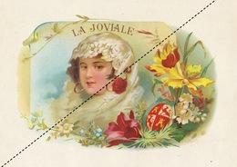 1893-1894 Grande étiquette Boite à Cigare Havane LA JOVIALE - Etiquettes