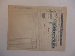 Facture Quincaillerie Cuivrerie J. Roulet Frères à Lyon (69) Destinée à Mr Guinand à Belley (01). - France