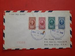 La Costa Rica Enveloppe Circulé Aux USA Avec Timbres Des Personnalités 1946 - Costa Rica