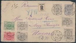 Finnország 1890 Ajánlott Levél Előlap / Finland Registered Cover Front To Hungary 'NYSTAD' - Nagy Kanizsa - Stamps