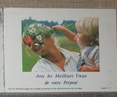 Petit Calendrier Poche 1988 Lavigne PTT Facteur  La Poste Fleurs Enfant - Calendriers
