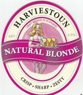 HARVIESTOUN BREWERY (ALVA, SCOTLAND) - NATURAL BLONDE - PUMP CLIP FRONT - Signs