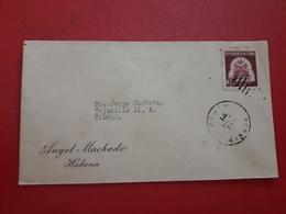 La Cuba Enveloppe Circulé Avec Propagande Un Tabac 1937 - Cuba
