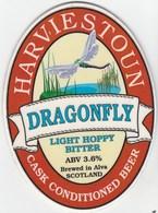 HARVIESTOUN BREWERY (ALVA, SCOTLAND) - DRAGONFLY BITTER - PUMP CLIP FRONT - Signs