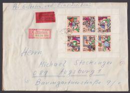 """1232/8, Kleinbogen Auf R-Eilboten, Seltener SbPA-R-Zettel """"701 Leipzig"""" - DDR"""