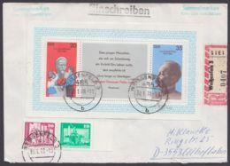 1868, Portoger. R-Brief Mit Seltenem Randstück Aus Bogen Und Block 49 Mit Zusatzfr. - DDR