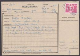 """1967, EF Auf Telegramm """"Schellerhau"""" Mit Poststellenstempel - DDR"""