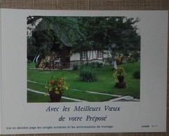 Petit Calendrier Poche 1988 Lavigne PTT Facteur  La Poste Chaumière Normande - Calendriers
