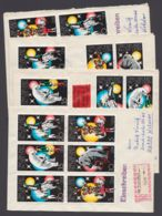 """2364/7 """"Zirkus"""", 1978, 8 ZD Mit Besseren 3er Streifen Auf 4 Belegen - DDR"""