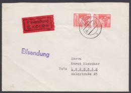"""2588, MeF Mit 2 Werten, Orts-Eilboten """"Leipzig"""", Mit Ankunft - DDR"""